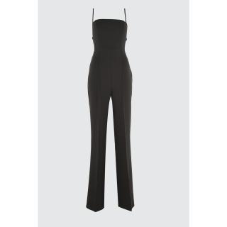 Trendyol Black Back Detailed Jumpsuit dámské 34