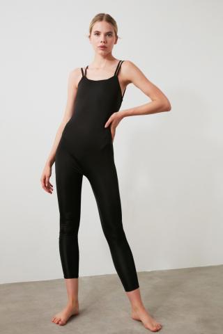 Trendyol Black Back Detailed Sports Jumpsuit dámské XS