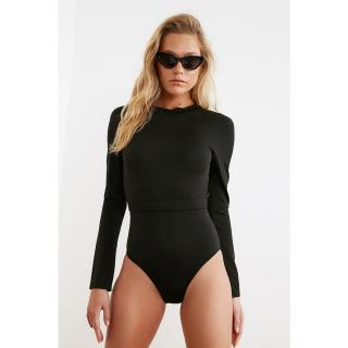Trendyol Black Back Detailed Swimsuit dámské 34