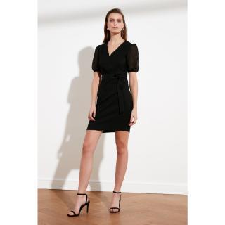 Trendyol Black Belt Dress dámské 34