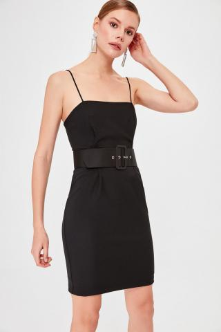 Trendyol Black Belt Dress dámské 42