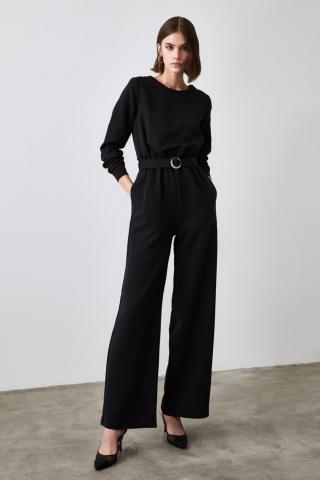 Trendyol Black Belt Jumpsuit dámské 34