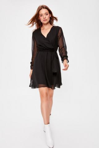 Trendyol Black Belted Dress dámské 42