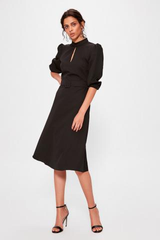 Trendyol Black BeltEd Dress dámské 42