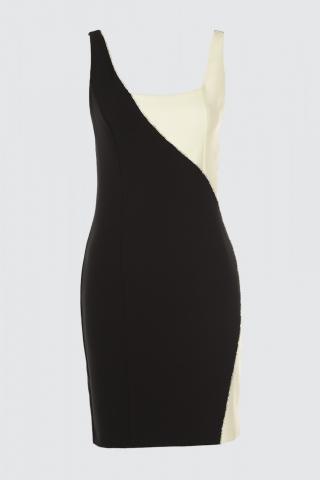 Trendyol Black Block Dress dámské 34