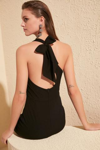 Trendyol Black Bow Detail Dress dámské 34