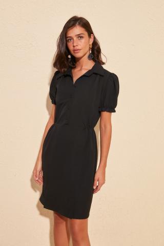Trendyol Black Button Detailed Dress dámské 42