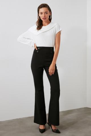Trendyol Black Button Detailed Pants dámské 34
