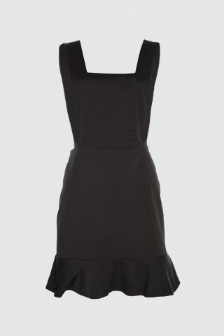 Trendyol Black Button Detailed Volile Jile Dress dámské 34
