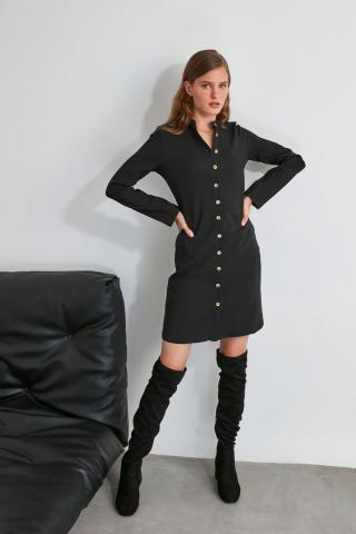 Trendyol Black Button Dress dámské 34