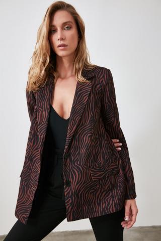 Trendyol Black Button Jacket dámské 38