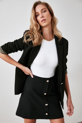 Trendyol Black Button Skirt dámské 38