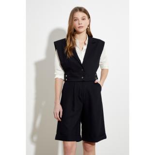 Trendyol Black Button Vest dámské 34