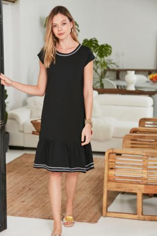 Trendyol Black Carioca Detailed Knitting Dress dámské XS