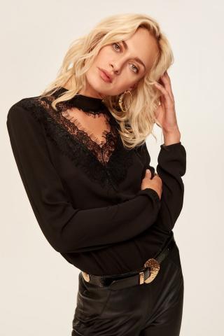 Trendyol Black Chocker Detailed Blouse dámské 36