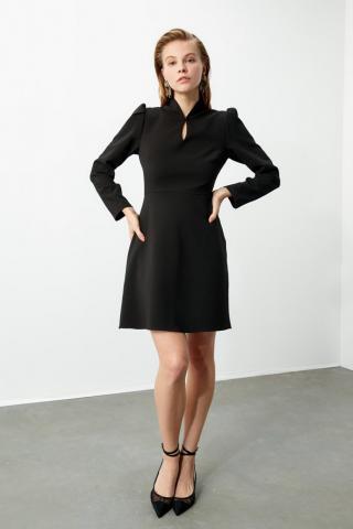 Trendyol Black Collar Detailed Dress dámské 34