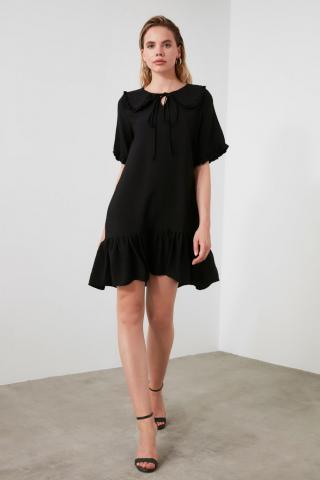 Trendyol Black Collar Detailed Dress dámské 36