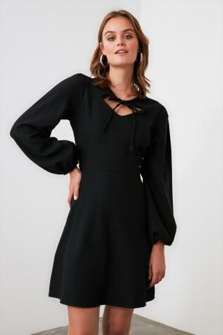 Trendyol Black Collar Detailed Dress dámské 40