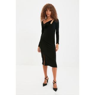Trendyol Black Collar Detailed Dress dámské Other 34
