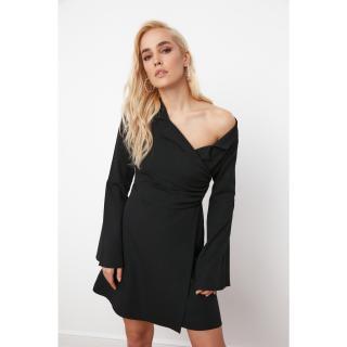 Trendyol Black Collar Detailed Jacket Dress dámské 34