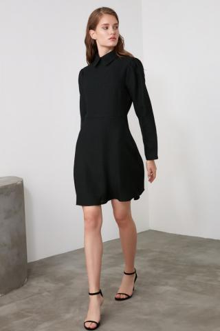 Trendyol Black Collar Detailed Tweed Dress dámské 34