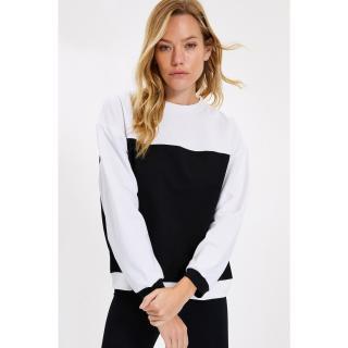 Trendyol Black Color Block Knitted Sweatshirt dámské Other S