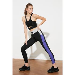 Trendyol Black Color Block Lace-up Sports Tights dámské S