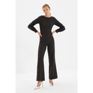 Trendyol Black Crew Collar Jumpsuit dámské Other 42