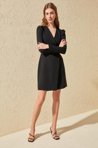 Trendyol Black Cruise Collar Dress dámské 34