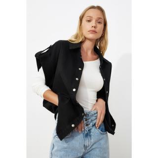Trendyol Black Denim Vest dámské S
