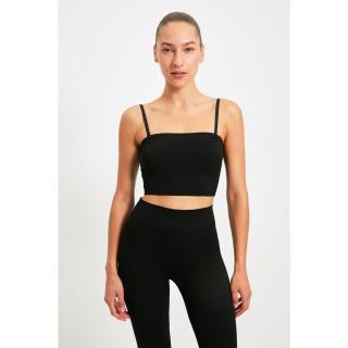 Trendyol Black Detachable Strap Seamless Sports Bra dámské Other XS