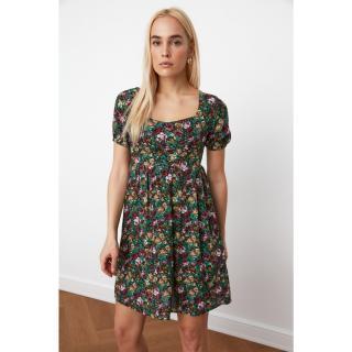 Trendyol Black Floral Patterned Dress dámské 40