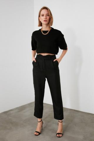 Trendyol Black High Waist Pants dámské 34