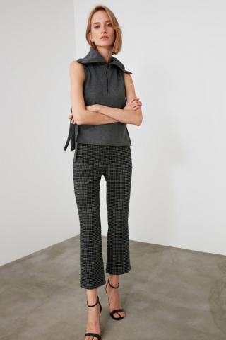 Trendyol Black High Waist Pants dámské 42