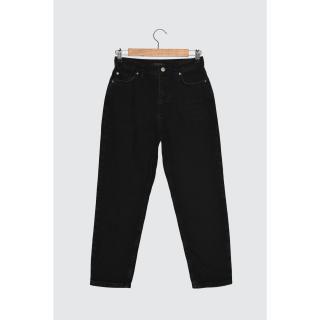 Trendyol Black High Waist Petit Mom Jeans dámské 34