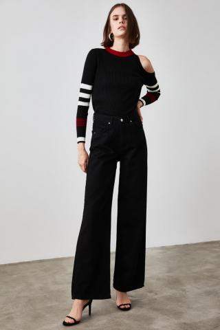 Trendyol Black High Waist Wide Leg Jeans dámské 34