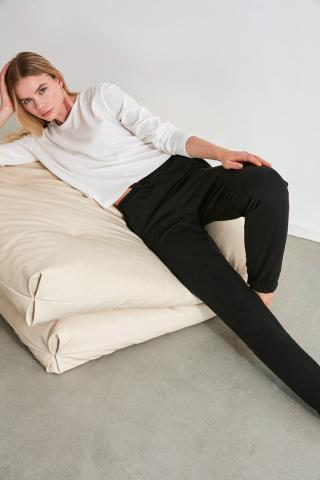 Trendyol Black Jogger Knitted Pyjamas bottom dámské S