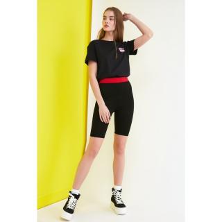 Trendyol Black Knitted Biker Tights dámské S