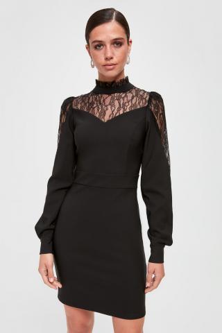 Trendyol Black Lace Detailed Dress dámské 38