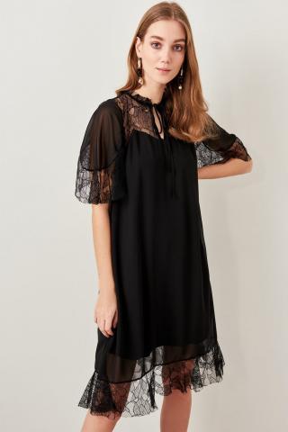 Trendyol Black Lace Dress dámské 34
