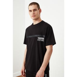 Trendyol Black Male Printed Plentiful T-Shirt M