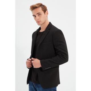 Trendyol Black Mens Blazer Textured Jacket pánské Other 50