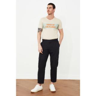 Trendyol Black Mens Pocket Belt Certain Pants pánské 38