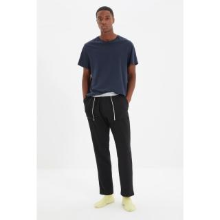 Trendyol Black Mens Regular Fit Pajama Bottoms pánské Other S
