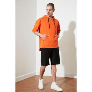 Trendyol Black Mens Regular Fit Striped Shorts & Bermuda pánské S