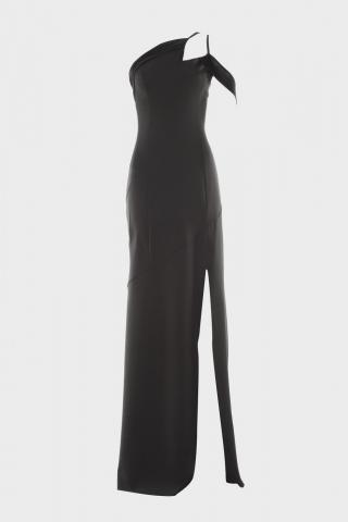 Trendyol Black Neck Line Detailed Evening Dress & Graduation Dress dámské 34