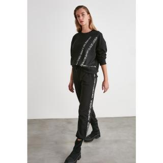 Trendyol Black Paperbag Sports Tracksuit bottom dámské XS