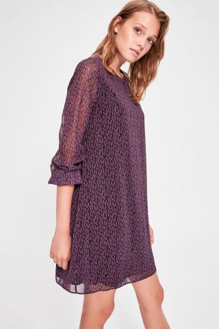 Trendyol Black Patterned Dress dámské 34
