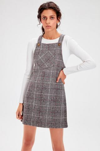 Trendyol Black Plaid Jile Dress dámské 34