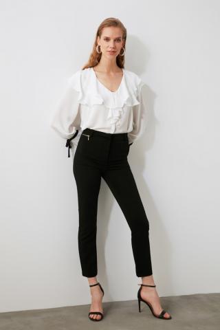 Trendyol Black Pocket Detailed Pants dámské 36
